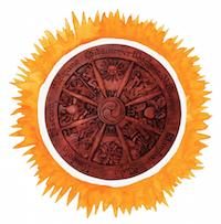 solar wheel of year