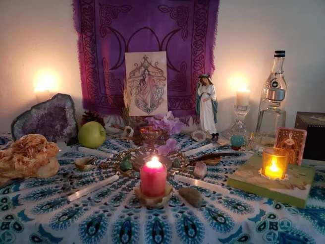 Perspephone Altar by Sandie